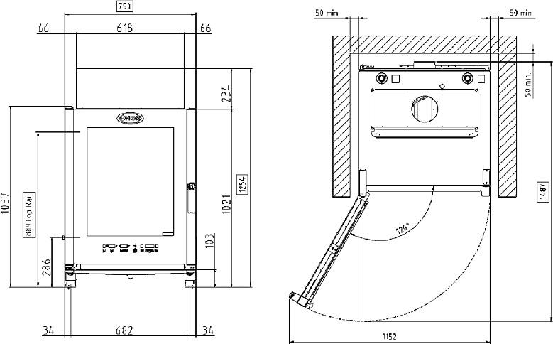 Схема монтажа UNOX XVC 715 EG