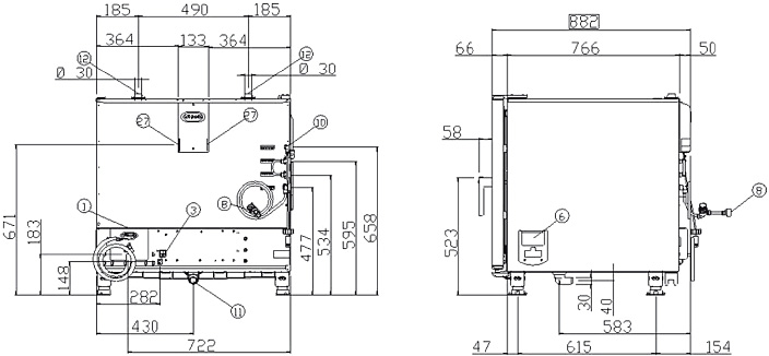 Схема монтажа UNOX XBC 605 E