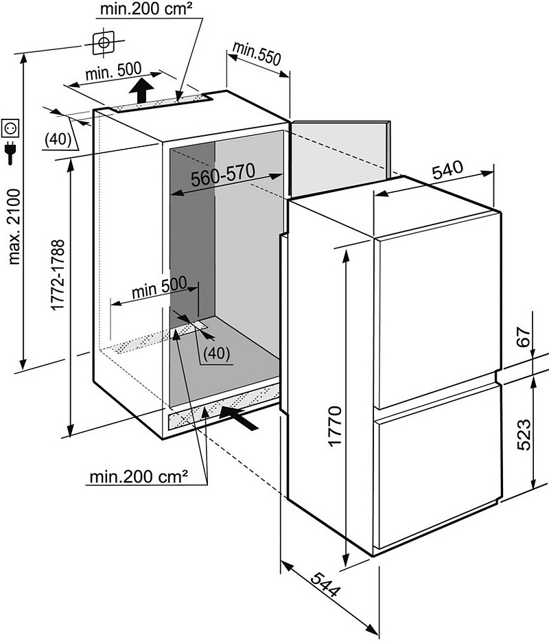 Схема монтажа Liebherr ICS