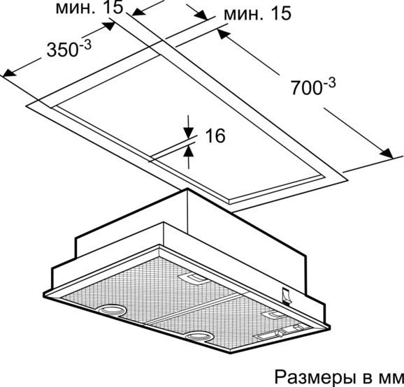 Схема монтажа Neff D5855X0