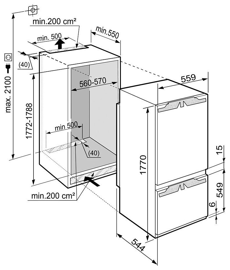 Схема монтажа Liebherr ICBP
