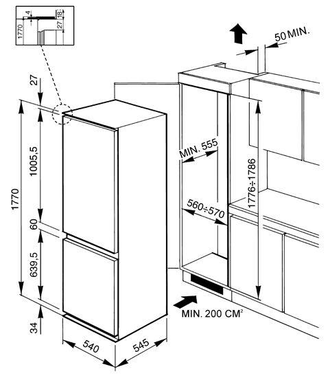 Схема монтажа холодильника