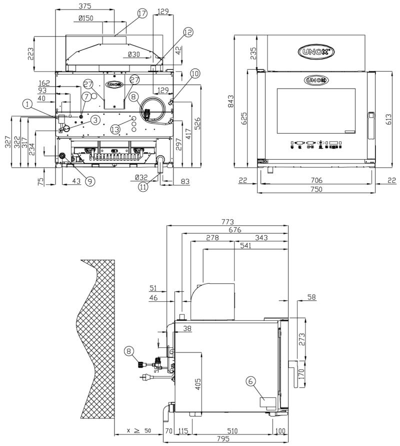 Схема монтажа UNOX XVC 315 G