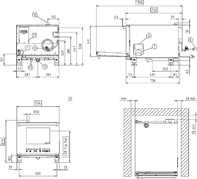 Схема монтажа UNOX XVC 055 E