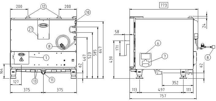 Схема монтажа UNOX XVC 305 E