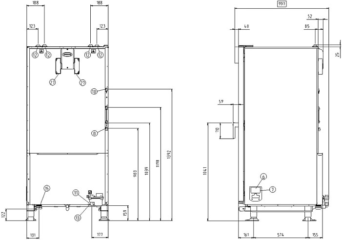 Схема монтажа UNOX XVC 1005 EP