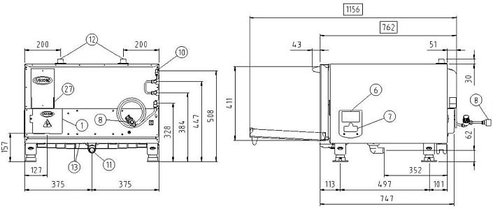 Схема монтажа UNOX XVC 105 E