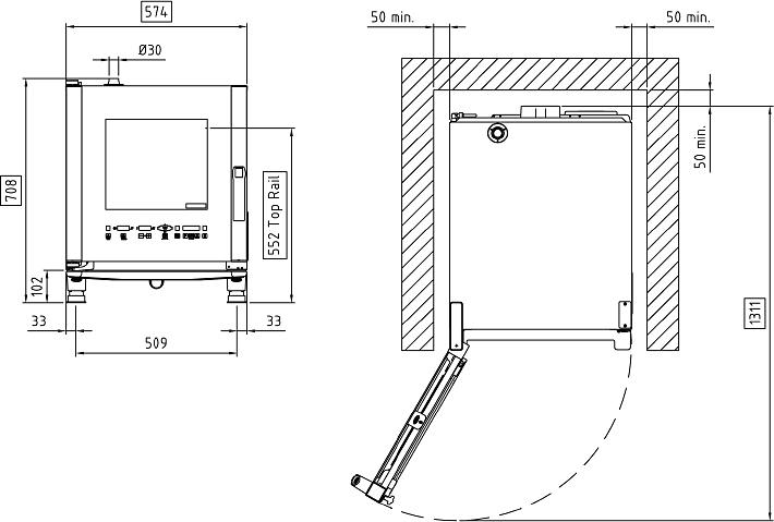 Схема монтажа UNOX XVC 205 E
