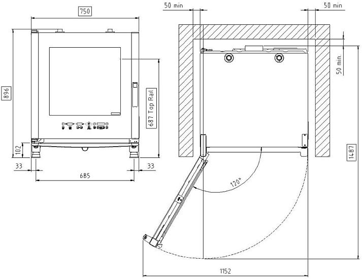 Схема монтажа UNOX XVC 505 E