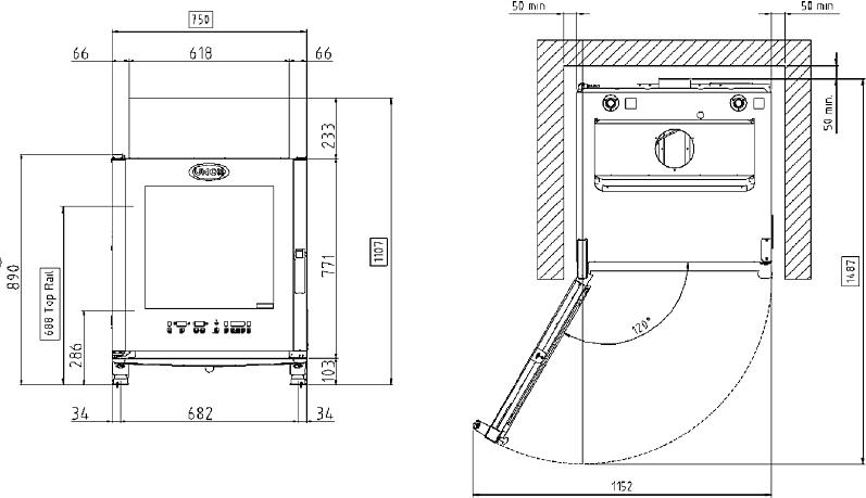 Схема монтажа UNOX XVC 515 EG