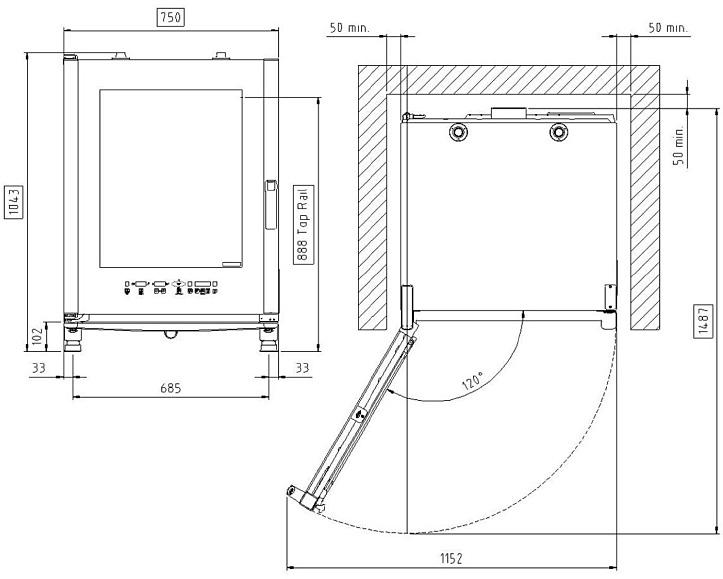 Схема монтажа UNOX XVC 705 E